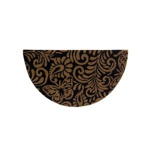 Capacho Fibra de Coco 0.60 x 0.33cm Estampado Meia Lua - Bella Casa