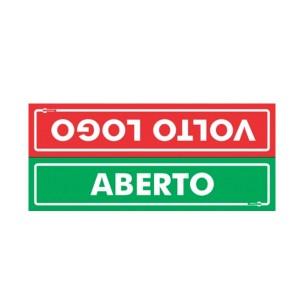 Placa Aberto/Fechado Ps513 - Encartale