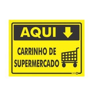 Placa Carrinho De Supermercado Ps457 - Encartale