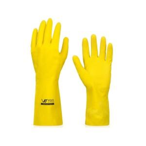 Luva Multiuso Látex Standard Amarelo com Forro M - Volk