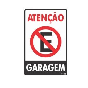 Placa Atenção Garagem Ps04 - Encartale