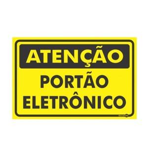 Placa Atenção Portão Eletrônico Ps479 - Encartale