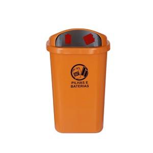 Cesto de Lixo 50 L Pilhas e Baterias