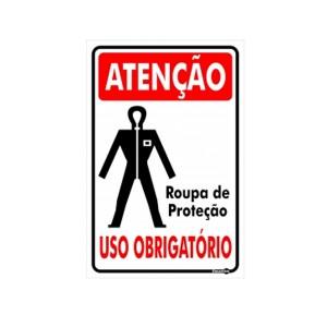 Placa Atenção Roupa de Proteção  Ps326 - Encartale