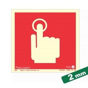 Placa Botão e Emergência Paf307 - Encartale