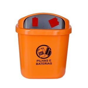 Coletor p/ Descarte de Pilhas e Baterias em PP 40 L