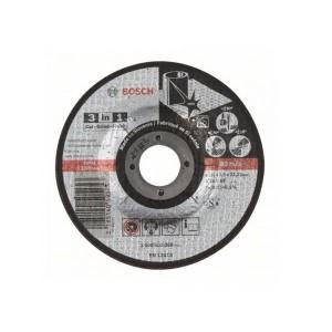 Disco 3 em 1 Corte Desbaste e Acabamento em Aço Inox 4.1/2 Pol. x 2.5 x 7/8 Pol. - Bosch