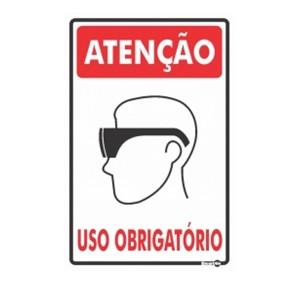 Placa Atenção Uso Obrigatório de Óculos Ps81 - Encartale