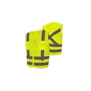 Colete Refletivo Tipo Blusão Amarelo Fluorescente com 2 Bolsos G