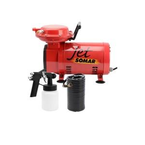 Compressor de Ar Direto Portátil - 1/3 CV Com Kit Jet - Somar