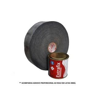 Fita Antiderrapante Emborrachada 50mm x 20m - Preta