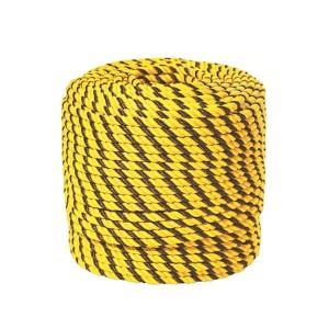 Corda Polipropileno torcida amarela/preta 8 mm (Vendida por Kilo)