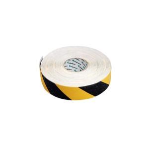 Fita Antiderrapante Preta / Amarela 50mm x 45m - Carbografite