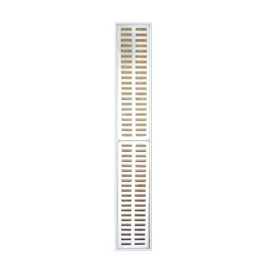 Grelhas De Alumínio Completa (Ralo) 15x100cm