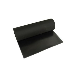 Lençol Borracha Natural 1.0mm x 1.20m s/ Lona Preto (VENDIDO POR METRO)