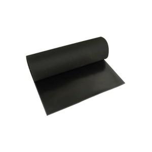 Lençol Borracha Natural 2.4mm x 1.00m c/ 1 Lona Preto (VENDIDO POR METRO)