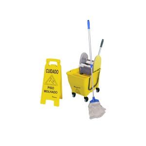 Kit de Limpeza c/ Balde e Acessórios - Bralimpia