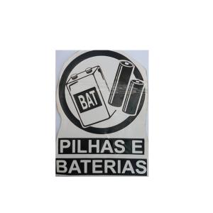 Adesivo Cesto de Lixo Pilhas e Baterias