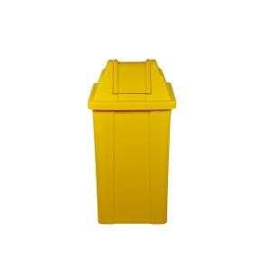 Cesto de Lixo 25 L Quadrado Basculante Laranja