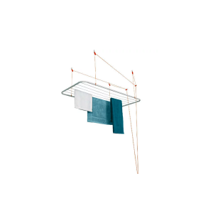 Varal de Teto em Aço Branco 1.40 x 0.56m
