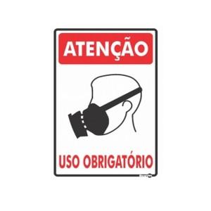 Placa Atenção Máscara Uso Obrigatório Ps155 - Encartale