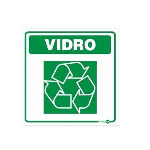 Adesivo Cesto Lixo Reciclado Vidro - Encartale
