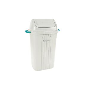 Cesto Lixo 105L Quad. Basculante Branco - Sanremo