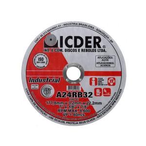 Disco De Corte - 7 Pol. x 1.8 x 7/8 Pol. - Industrial - Icder