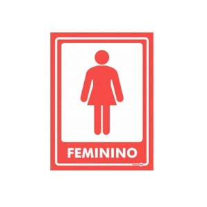 Adesivo Banheiro Feminino Parede - Encartale