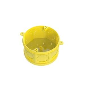 Caixinha de Luz PVC Octagonal 4x4 FMS Amarela