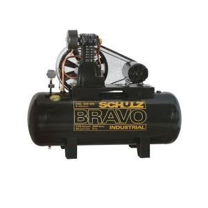 Compressor de Ar de Pistão Alta Pressão 20 Pés 200L Trifásico - CSL20BR/200 - Bravo - Schulz