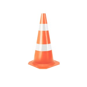 Cone Sinalização Flexível Refletivo 50cm Laranja/Branco