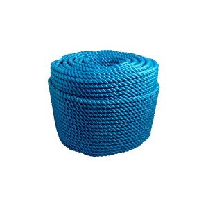 Corda Polietileno Torcida 8mm Azul (Vendida por Kilo)