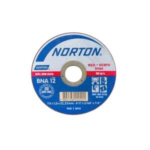 Disco de Corte Inox 4.1/2 Pol. x 1.0 x 7/8 Pol. BNA12 - Norton