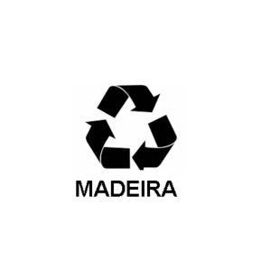 Adesivo Cesto Lixo Madeira