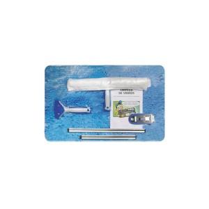 Mini Kit Limpeza de Vidros c/ 5 Pçs - Bralimpia