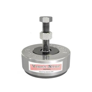 Amortecedor de Aço Tradicional Mac 5/16 Pol. Capacidade 200/800kg - Vibra Stop Cinza