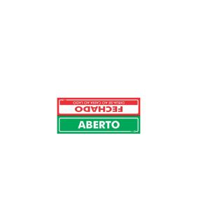 Placa Aberto/Fechado PS-519F/V - Encartale