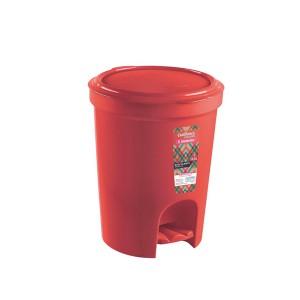Cesto lixo 13.5L  Redondo Pedal Vermelho - Sanremo