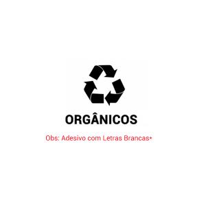Adesivo Cesto Lixo Orgânico (letras brancas)