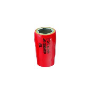 Soquete Sextavado 15mm Encaixe 1/2 Pol. VDE Isolado - Gedore